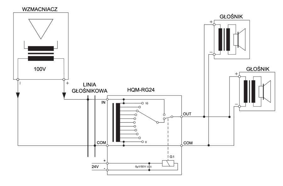 Regulator Głośności (Siły Głosu) - Schemat Podłączenia Do Radiowęzła