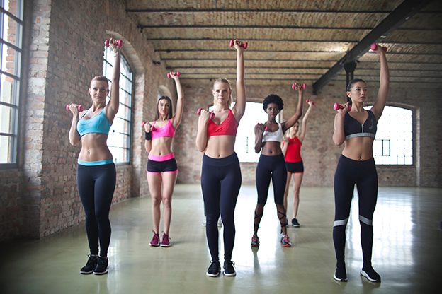Przykładowe nagłośnienie sali fitness.